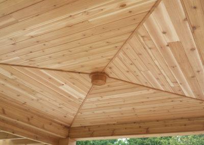 roof pergola close up