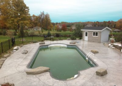 backyard pool renovation