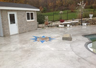design in pool concrete