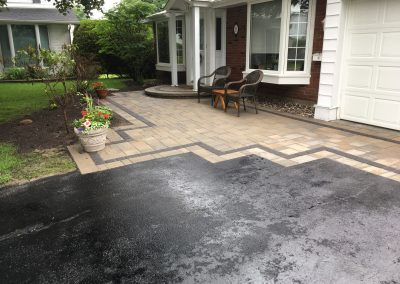 wide interlock patio