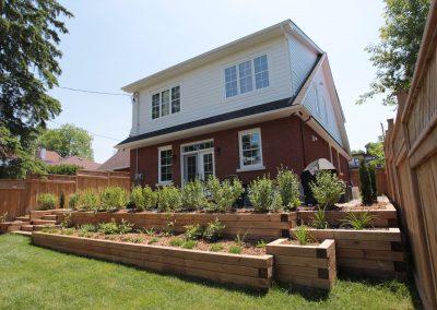 garden planters backyard