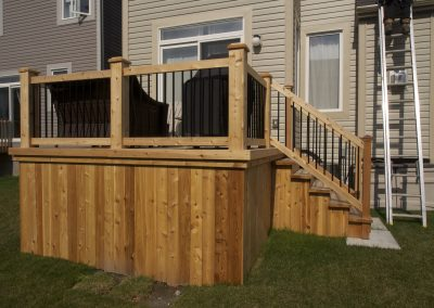 deck metal post side