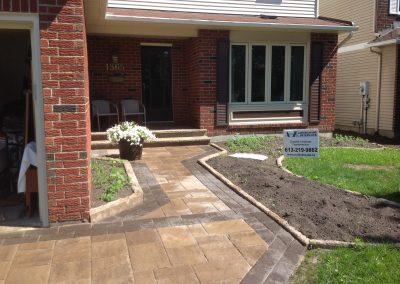 front yard interlock walkway