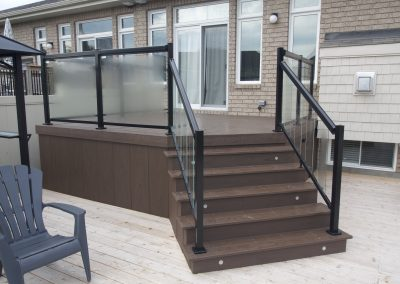 composite deck with light