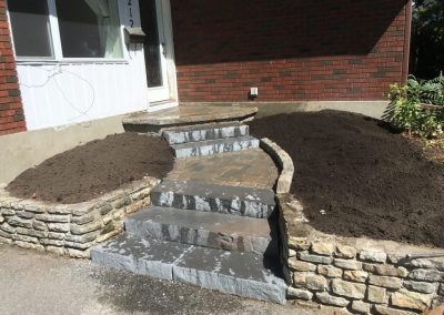 front entrance garden stairs