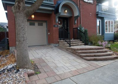 front stairs and driveway