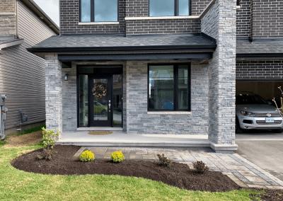 front yard landscape renovation