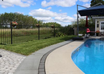 concrete pool deck paving