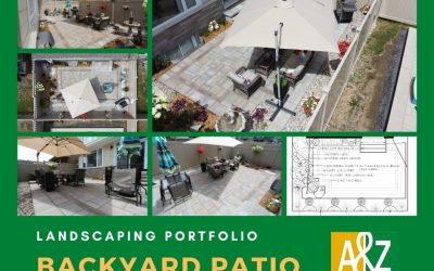 East Ottawa Backyard Interlock Landscape Patio