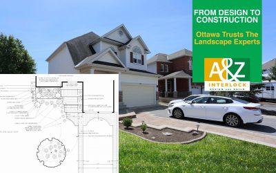 Interlock Driveway Extension, Front Entrance & Garden