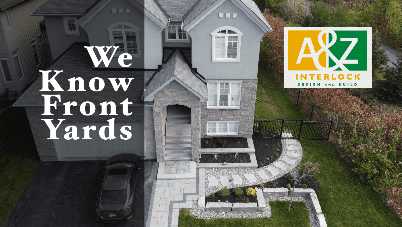 front yard landscape renovation featured image