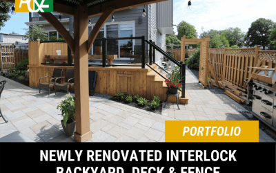 Backyard Interlock, Fence & Deck Landscaping Project